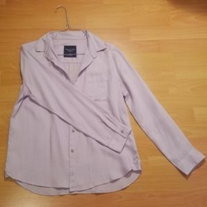 American Eagle Lilac Collared Button Up Shirt